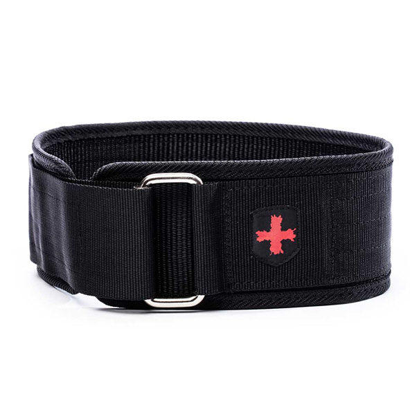 "Harbinger Men's 4"" Nylon Belt Black"
