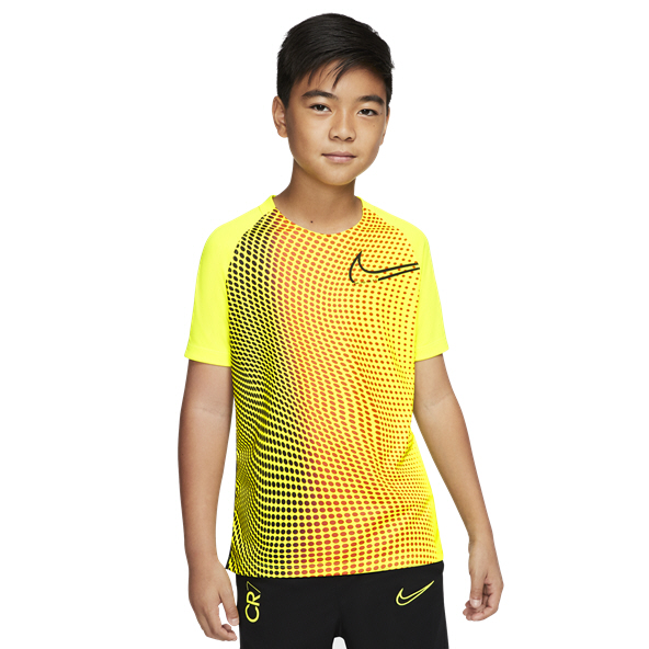 Nike CR7 Dry Boys' Football T-Shirt, Lemon