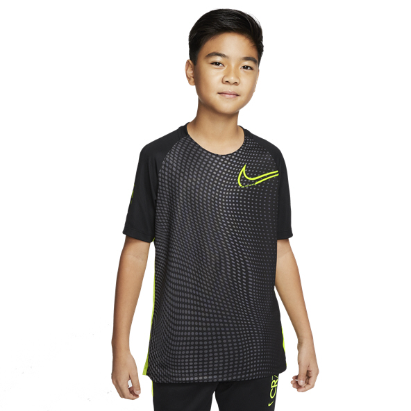 Nike CR7 Dry Boys' Football T-Shirt, Black