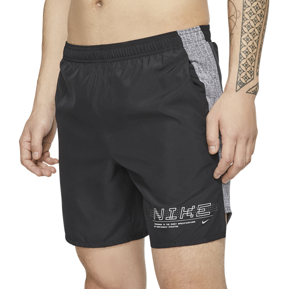 "Nike 7"" Challenger 2-in-1 Men's Running Short, Black"