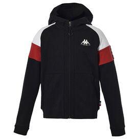 Kappa Irving Full Zip Boys Hoody Black/White