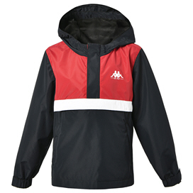 Kappa Icilio Boys' Windbreaker Black/Red
