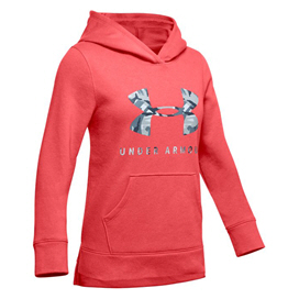 Under Armour® Rival Print Girls' Hoody, Red