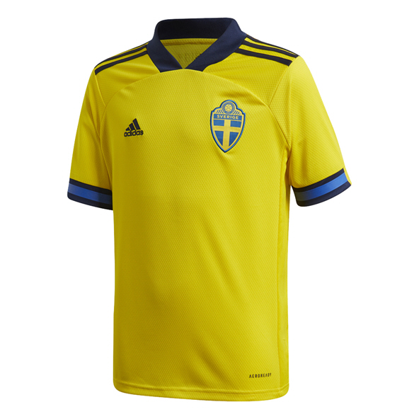 adidas Sweden 2020 Home Kids' Jersey, Yellow
