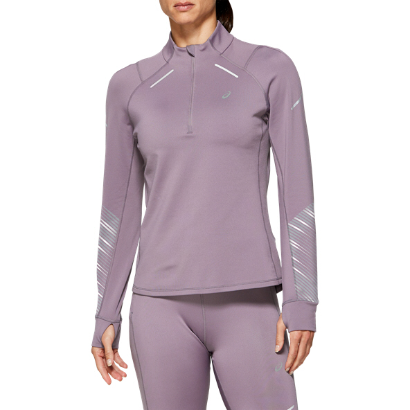 Asics Lite-Show™ 2 Winter ½- Zip Women's Running Top, Grey