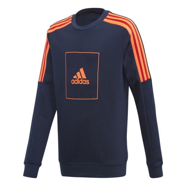 adidas Athletics Club Boys' Crew Top, Navy