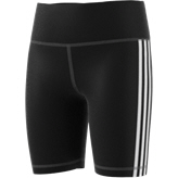 adidas 3 Stripe High Rise Girls' Training Short, Black