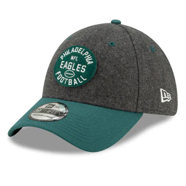 New Era Eagles 100Yr Sideline Home Cap Grn