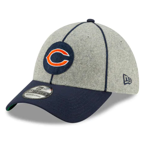 New Era 100Yr Bears Sideline Cap Blue