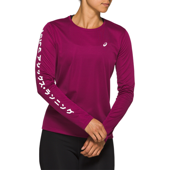 Asics Katakana Women's Long Sleeve Running T-Shirt, Purple