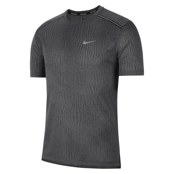 Nike Dry Miler Jacquard Men's Running T-Shirt, Black