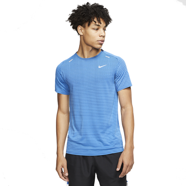 Nike TechKnit Ultra Men's Running T-Shirt, Blue