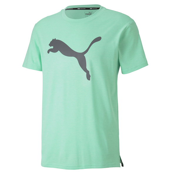 Puma Heather Cat Men's T-Shirt Green