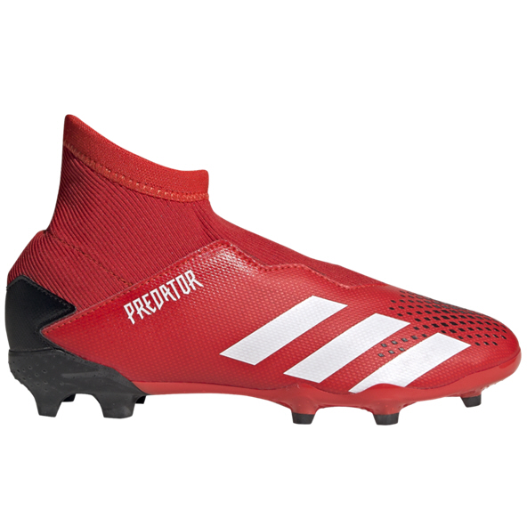 adidas Predator 19.3 Laceless FG Kids' Football Boot, Red