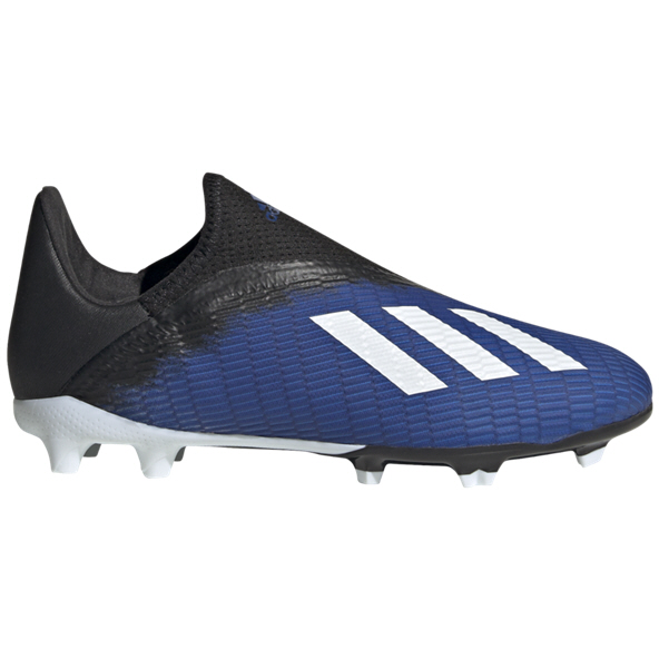 adidas X 19.3 Laceless FG Kids' Football Boot, Blue