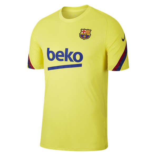Nike FC Barcelona 2020 Strike T-Shirt, Yellow