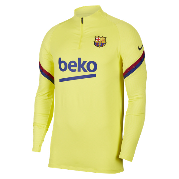 Nike FC Barcelona 2020 Strike Drill Top, Yellow