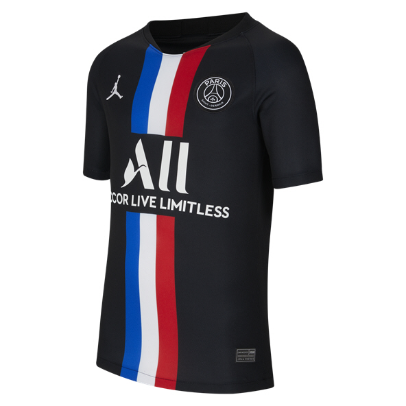 Jordan PSG 2019/20 4th Kids' Jersey, Black