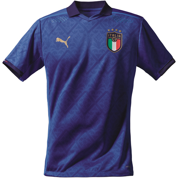 Puma Italy Home 20 Kids Jersey Blue