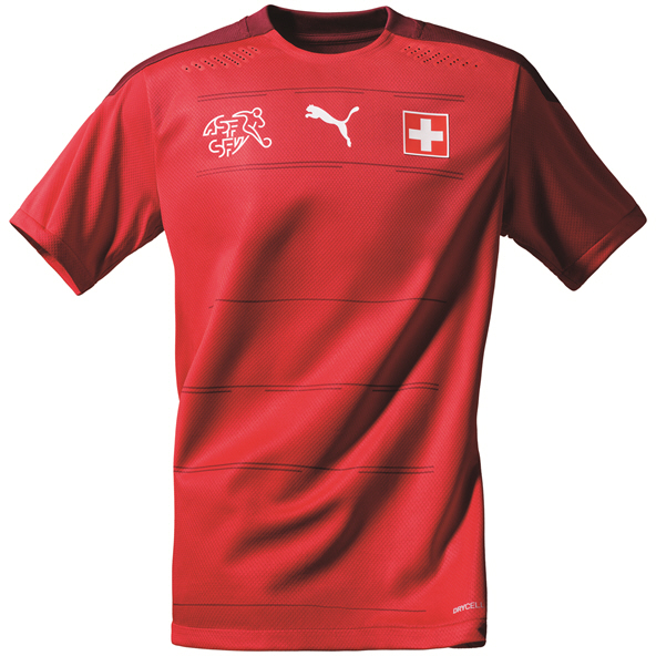 Puma Switzerland Home 20 Kids Jersey Red