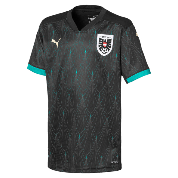 Puma Austria Away 20 Kids Jersey Black