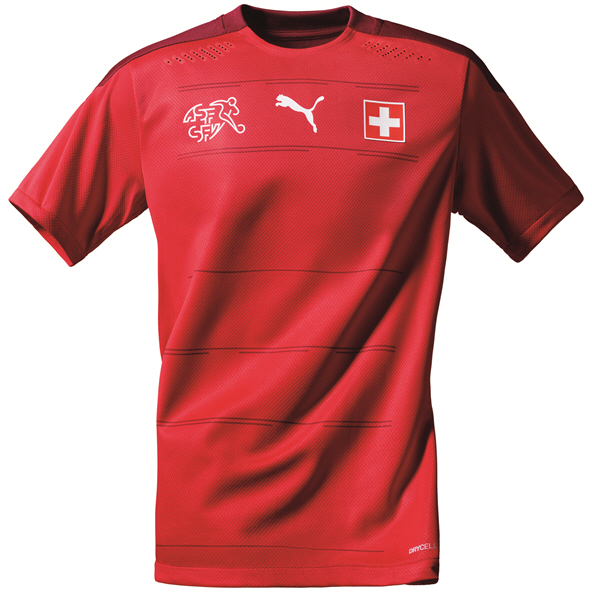 Puma Switzerland Home 20 Jersey Red