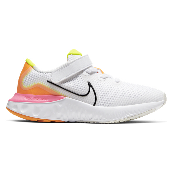 Nike Renew Run Junior Girls' Trainer, White