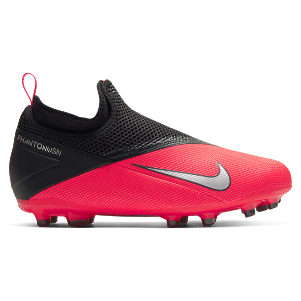 Nike Phantom Vision 2 Academy DF FG Kids' Football Boot, Red