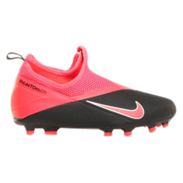 Nike Phantom Vision 2 Academy DF FG Kids' Football Boot, Black