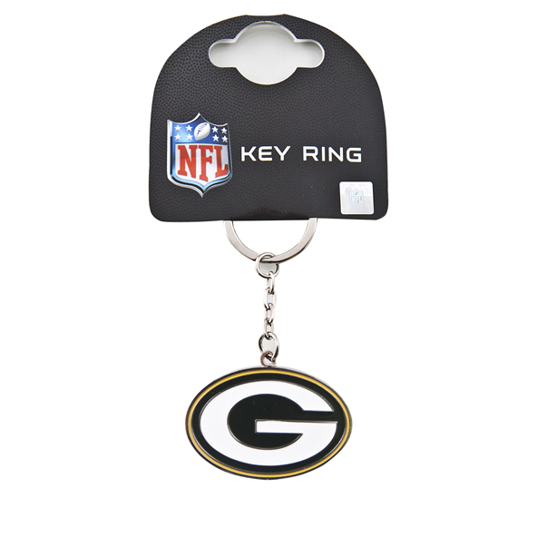 FOCO Packers Keyring Green