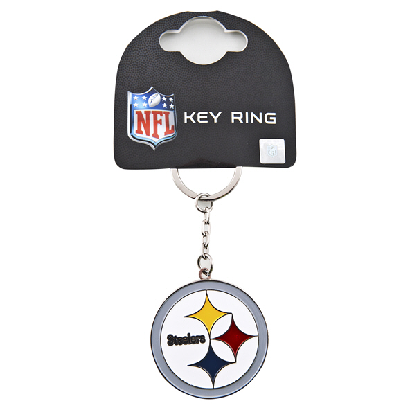 FOCO Steelers Keyring Black
