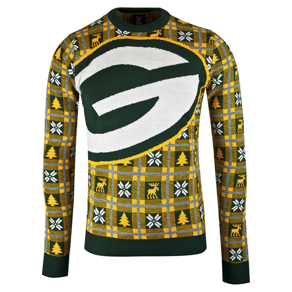 Foco Packers Christmas Jumper Green