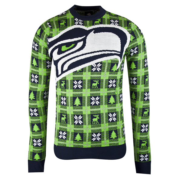 Foco Seahawks Christmas Jumper Navy