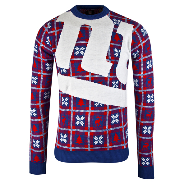 Foco Giants Christmas Jumper Blue