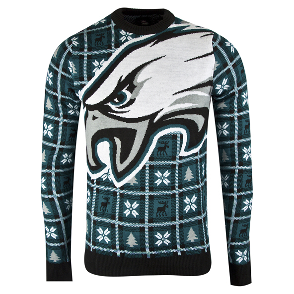 Foco Eagles Christmas Jumper Green