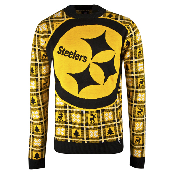 Foco Steelers Christmas Jumper Black