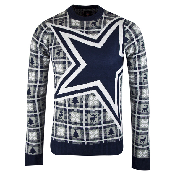 Foco Cowboys Christmas Jumper Blue