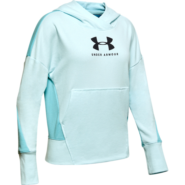 UA Rival Terry Girls Hoody Blue/Blk