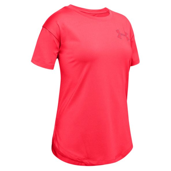 UA Armour HG SS Girls Tee Beta/Lipstick