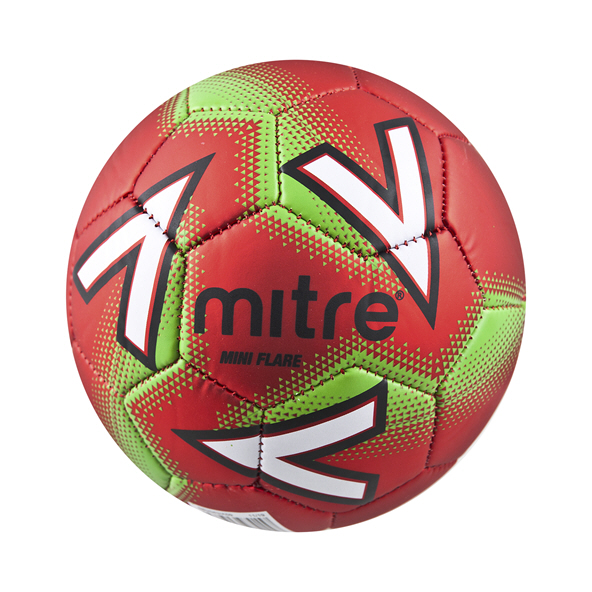 Mitre Mini Flare Ball Scarlet/Lime