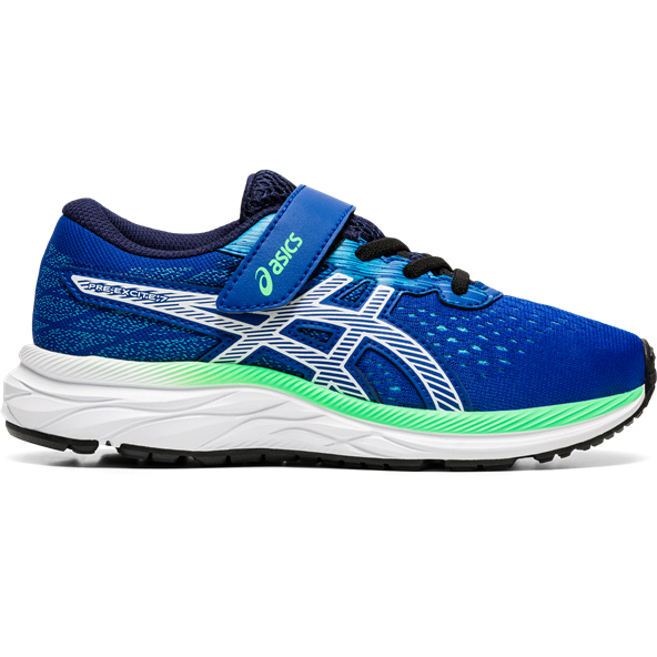 Asics Pre Excite 7 Junior Boys' Trainer, Blue