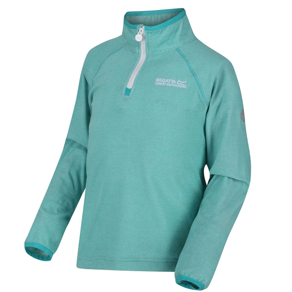 Regatta Loco ¼ Zip Girls' Fleece Jacket, Turquoise