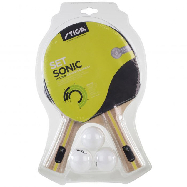 Stiga Sonic Table Tennis Bat & Ball Set