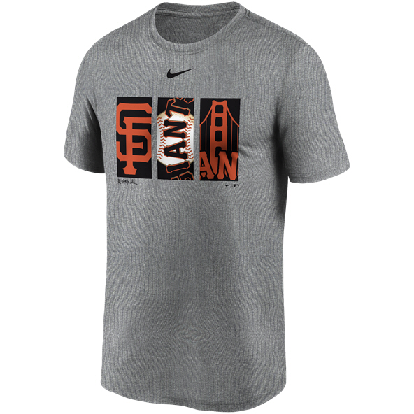 Nike Giants  DriFit Logo Tee Grey