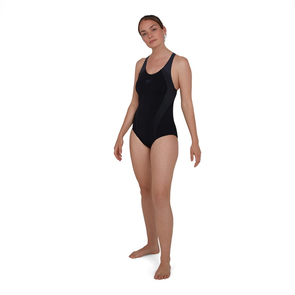 SpeedoPlacement Laneback Blk/Grey