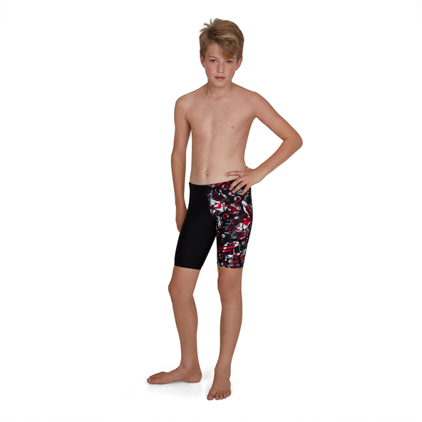 Speedo GlitchAmp Allover Jammer Blk/Red