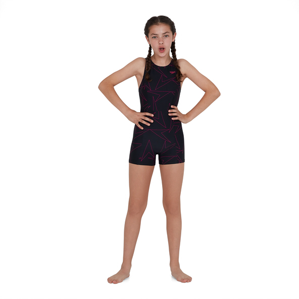 Speedo Boomstar Allover Legsuit Black/Pink
