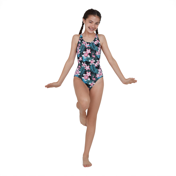 Speedo JungleGlow Splashback Flamingo Black