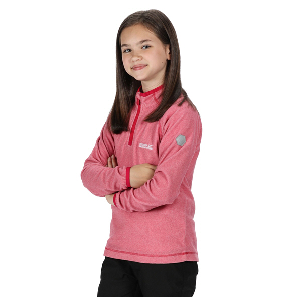 Regatta Loco ¼ Zip Girls' Fleece Jacket, Pink