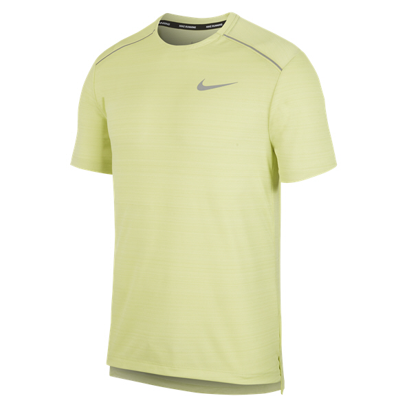 Nike Dry Miler Mens Top Limelight